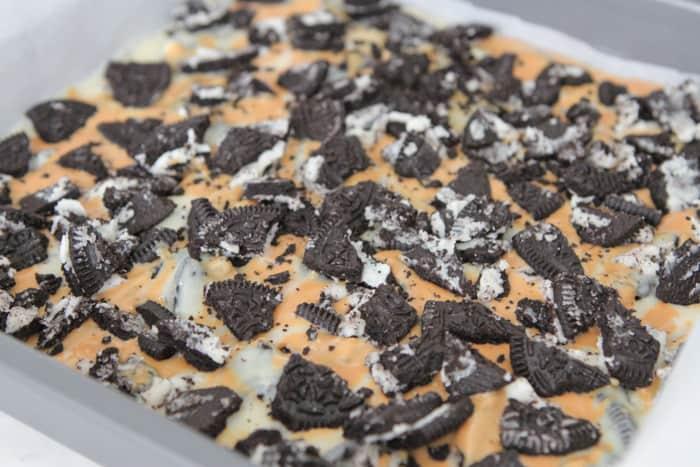 Oreo Peanut Butter Swirl White Chocolate Fudge-18
