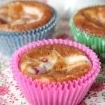 Raspberry and Cream Swirled Pumpkin Muffins by Picky Palate