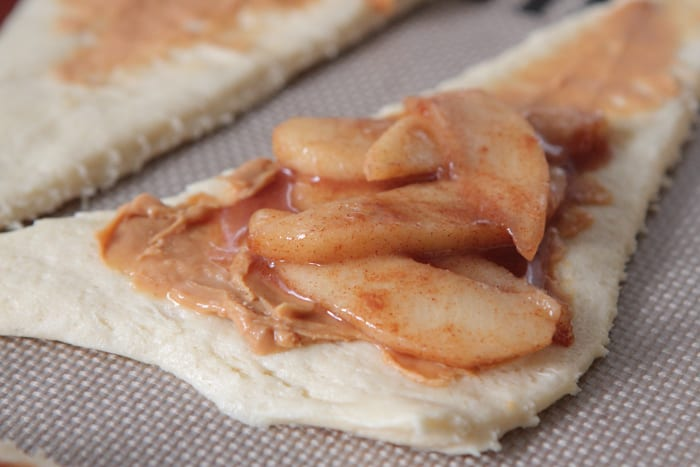 Roasted Apples and Peanut Butter Crescents-11
