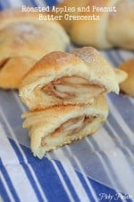Apple Peanut Butter Crescents