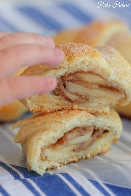 Roasted Apples and Peanut Butter Crescents-21t