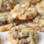 Hershey Kiss Peppermint Chocolate Chip Cookies