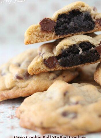 Oreo Cookie Ball Stuffed Cookies