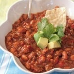 Slow Cooker Beef and Chorizo Chili