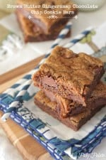 Brown Butter Gingersnap Chocolate Chip Cookie Bars