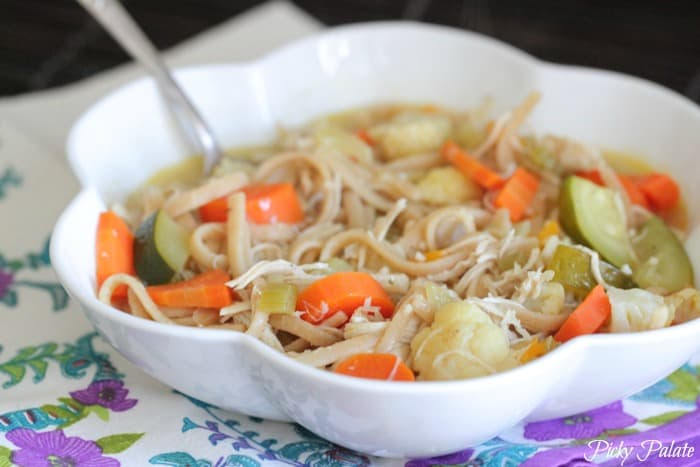 Classic Chicken Noodle Soup with Roasted Vegetables 2
