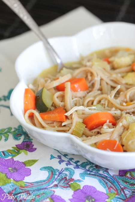 Classic Chicken Noodle Soup with Roasted Vegetables 4