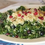Blueberry Pomegranate Quinoa Kale Salad