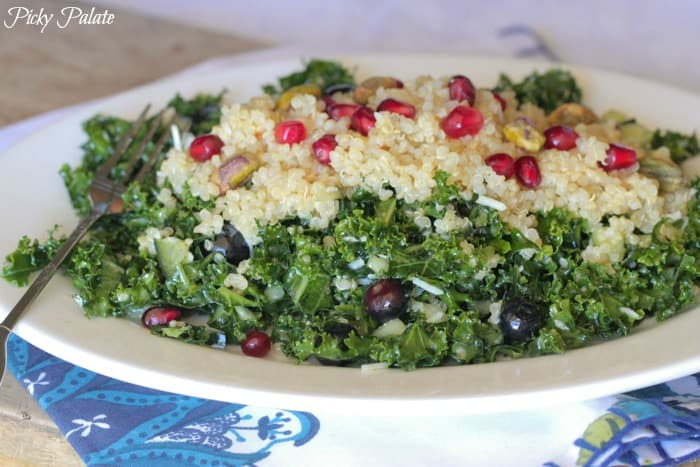 Blueberry Pomegranate Quinoa Kale Salad-11t
