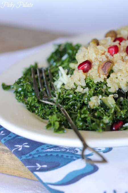Blueberry Pomegranate Quinoa Kale Salad-8t