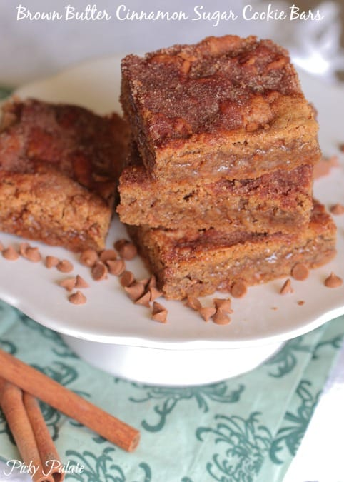 Brown Butter Cinnamon Sugar Cookie Bars