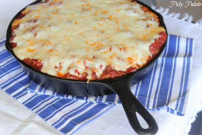Cheesy Sausage Skillet Lasagna Recipe-30t