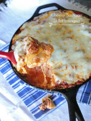 Cheesy Sausage Skillet Lasagna Recipe