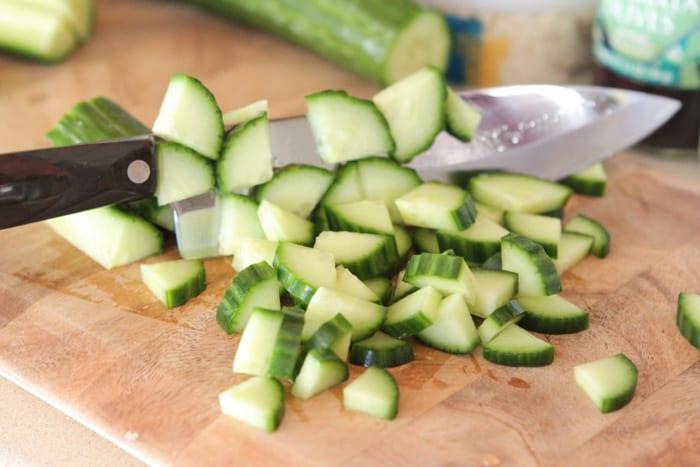 Creamy Feta Greek Style Cucumber Pasta Salad-2