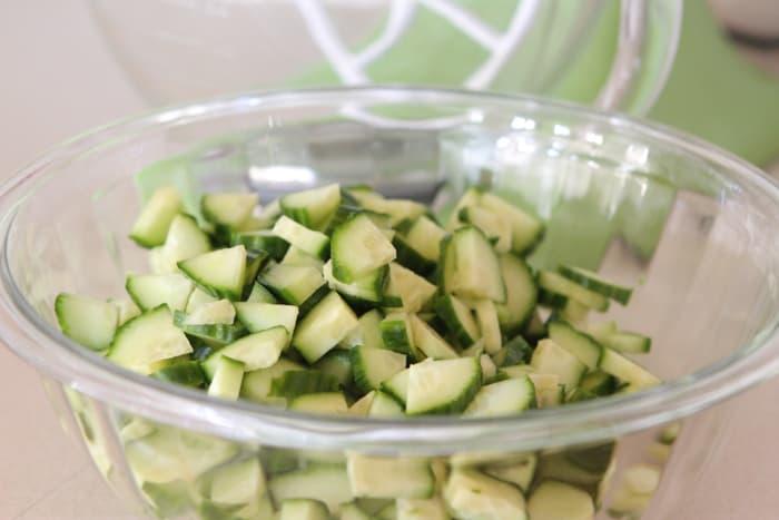Creamy Feta Greek Style Cucumber Pasta Salad-3