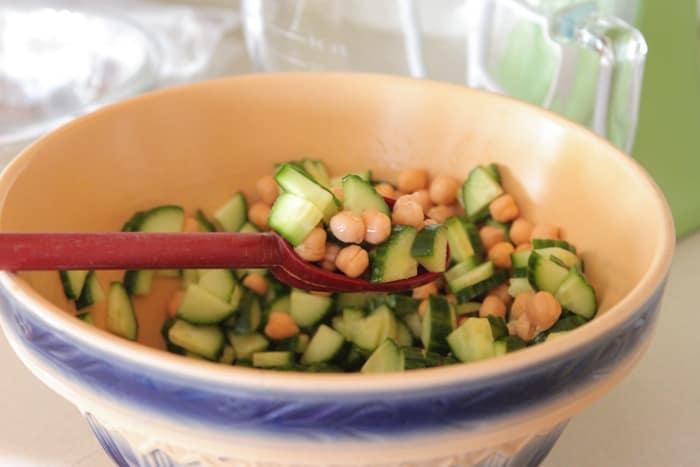 Creamy Feta Greek Style Cucumber Pasta Salad-5