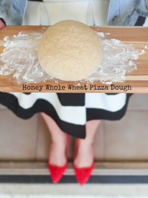 Honey Whole Wheat Pizza Dough Recipe