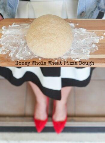 Honey Whole Wheat Pizza Dough Recipe