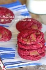 Malt Ball and Chocolate Chunk Red Velvet Cookies