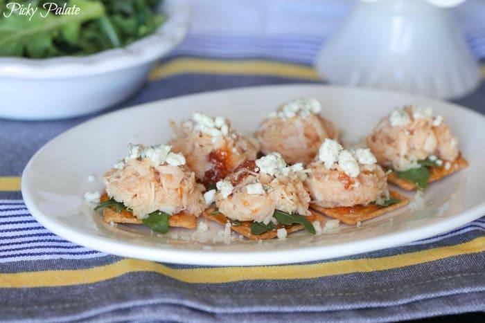 Peachy Chicken, Arugula and Gorgonzola Bites 2