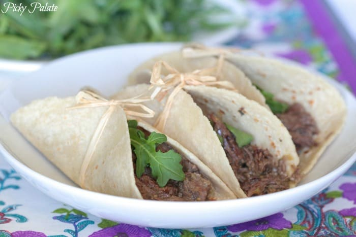 shredded beef tacos