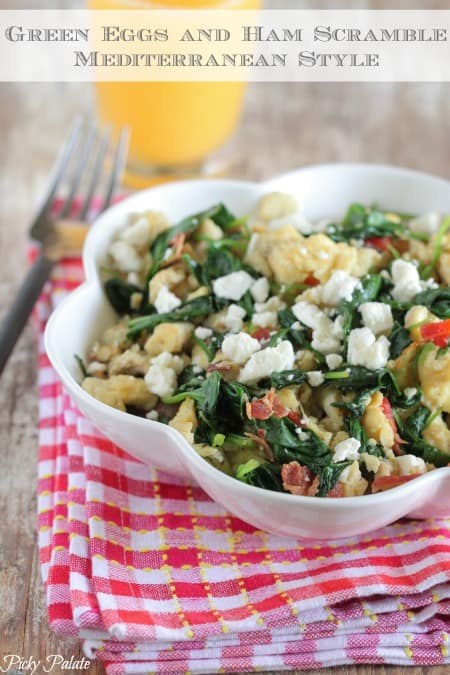 Green Eggs and Ham Scramble Mediterranean Style by Picky Palate