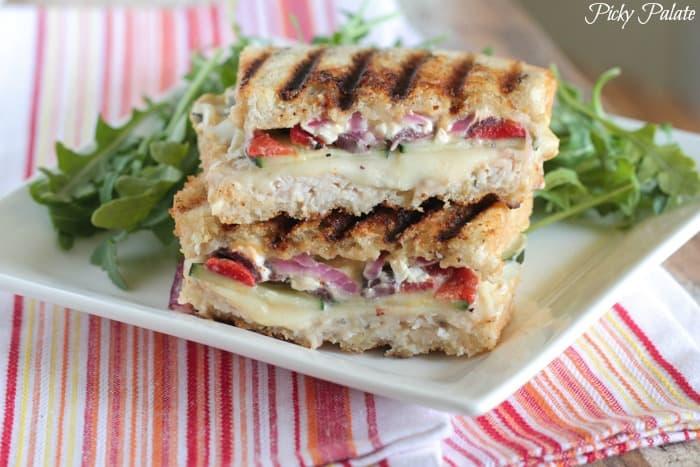 Loaded Turkey and Hummus Mediterranean Panini