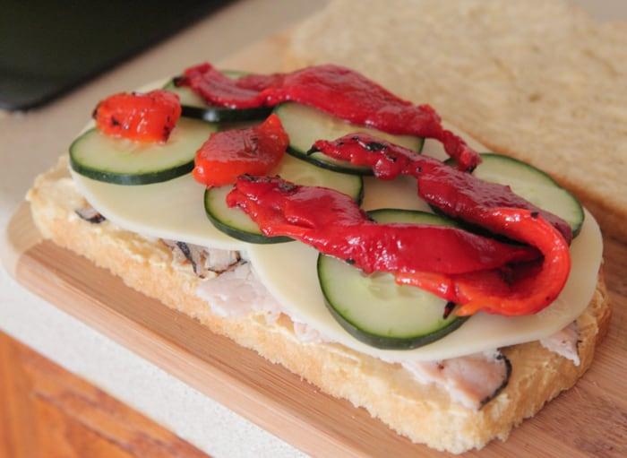 Loaded Turkey and Hummus Mediterranean Panini-6