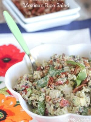 Chicken Pecan Mexican Rice Salad