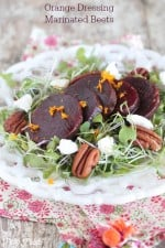 Orange Dressing Marinated Beets