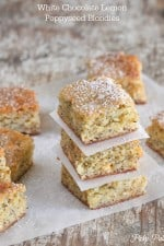 White Chocolate Lemon Poppyseed Blondies