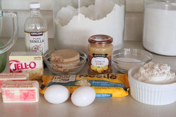 White Chocolate Lemon Pudding Cookies-1