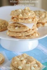 White Chocolate Lemon Pudding Cookies