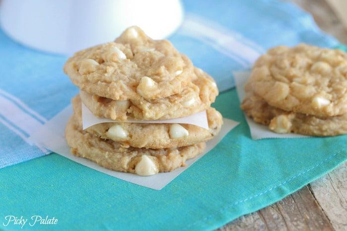 White Chocolate Lemon Pudding Cookies