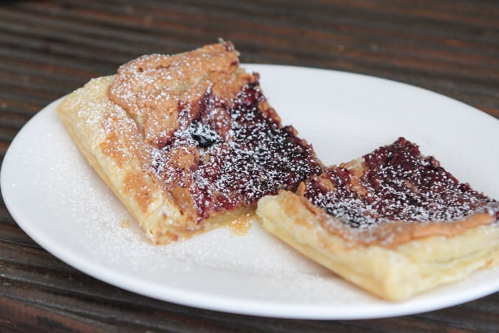 Peanut Butter Blueberry Pastry Squares