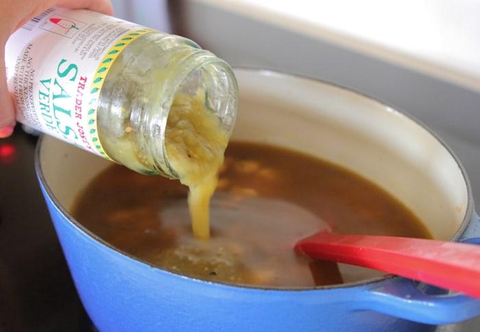 Salsa Verde Chicken and Wild Rice Soup-21