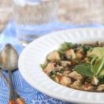 Salsa Verde Chicken and Wild Rice Soup