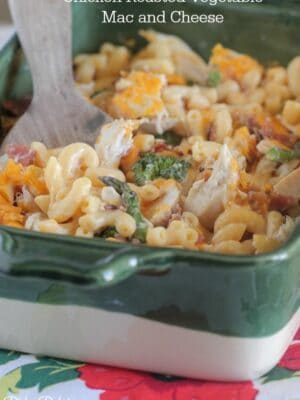 Chicken Roasted Vegetable Mac and Cheese