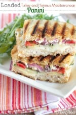 Image of a Loaded Turkey and Hummus Panini