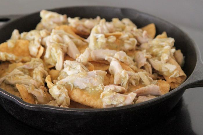 Skillet Nachos with Spicy Salsa Verde Chicken-9