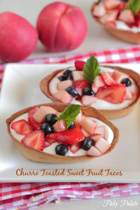 Churro Toasted Sweet Fruit Tacos