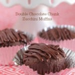 Double Chocolate Chunk Zucchini Muffins
