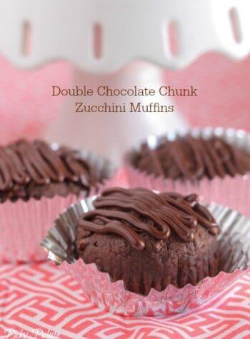 Double Chocolate Chunk Zucchini Muffins