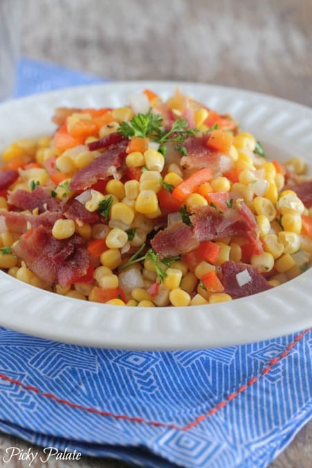 Maple Bacon Vegetable Corn Recipe