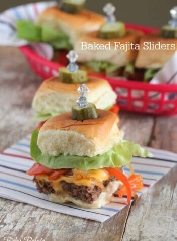Baked Fajita Sliders