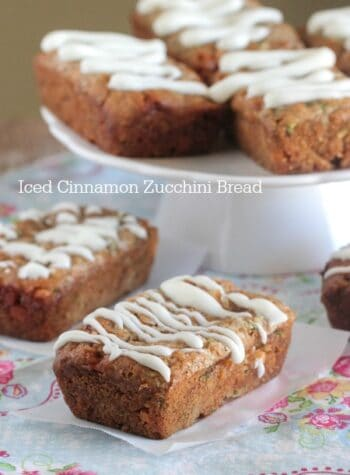 Iced Cinnamon Zucchini Bread