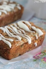 Image of Iced Cinnamon Zucchini Bread