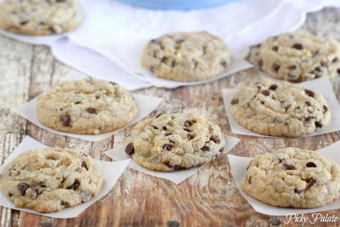 Mini Mint Chocolate Chip Cookies