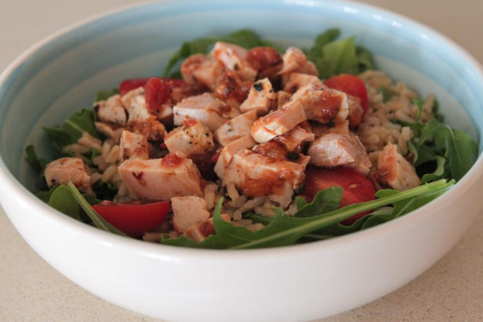 Southwest Chicken and Vegetable Brown Rice Bowls-8