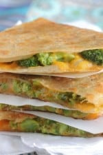 Image of Tuscan Broccoli and Cheese Quesadilla